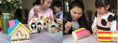 手绘木质存钱罐DIY