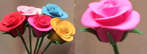 面塑玫瑰花